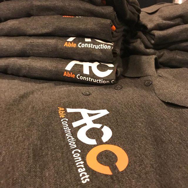 #accconstruction #workuniform #workwear #professional #getyours #tshirtprinting #qualityuniforms