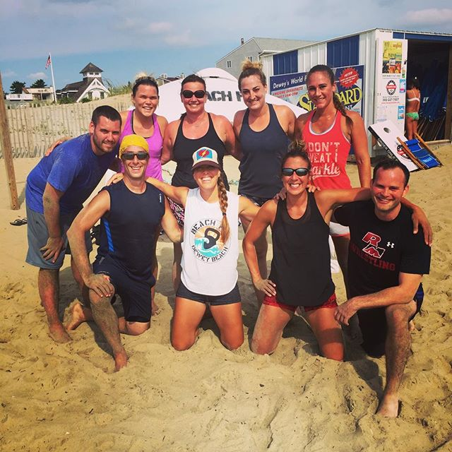 Saturdays are our favorite days at BeachFit. Everyone is in a good mood and ready to work, except wo