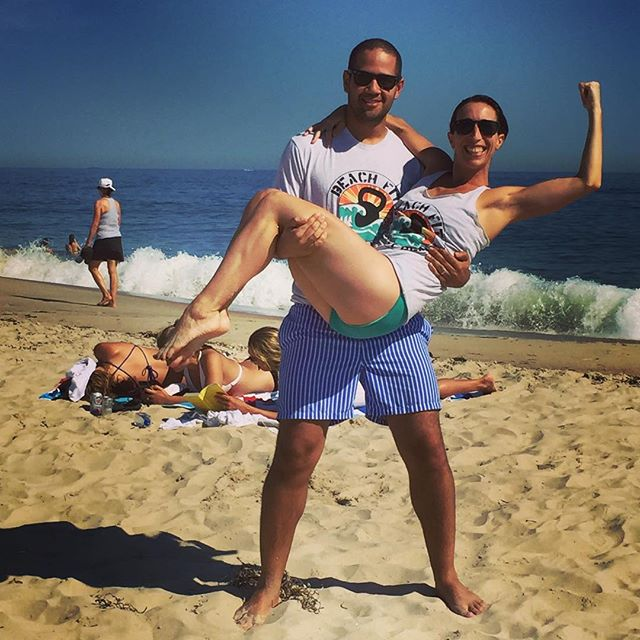 Newlyweds _bellyboo3 NYC _physique57 instructor, and hubby _jeliving30, repping that BeachFit life i
