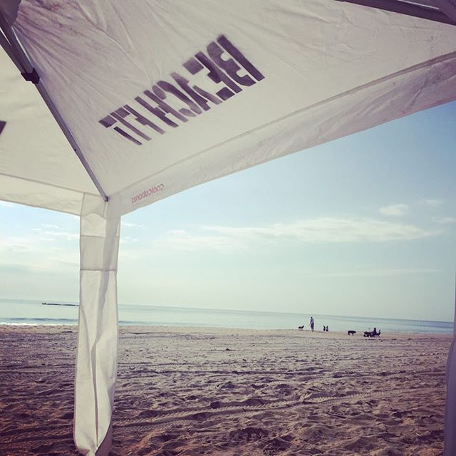 Come workout under our umbrella Ella Ella eh_ Saturday__Yoga_ 7_45am_BeachFit_ 9am__Sign up at Dewey
