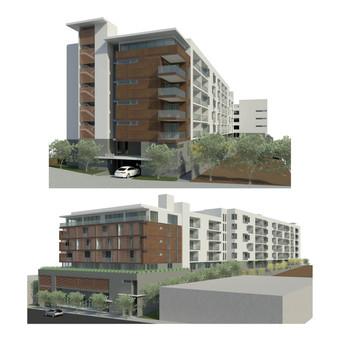 3rd St. & Miramar Apartments. Los Angeles, CA.