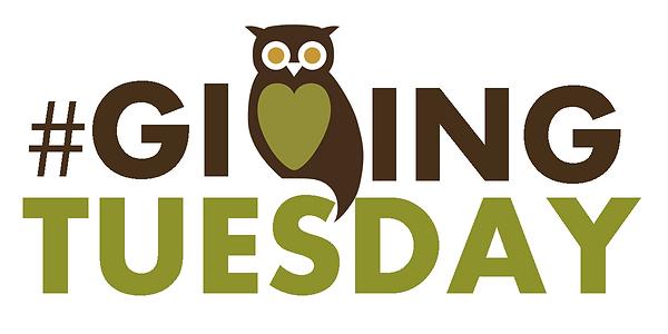 #givingtuesday with ASLS owl as the V