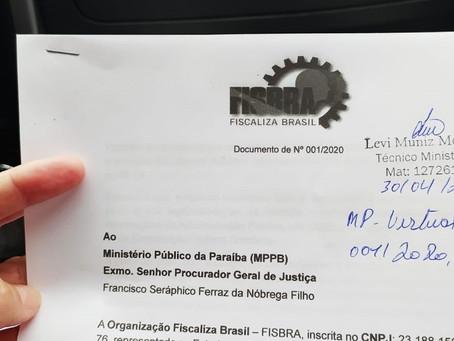 Fiscaliza Brasil da Paraíba (PB) inicia suas atividades com denúncias no Ministério Público