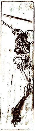 Sepia Crucifixion, in work