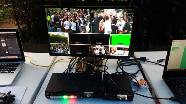 Filmagem e Transmissão ao Vivo