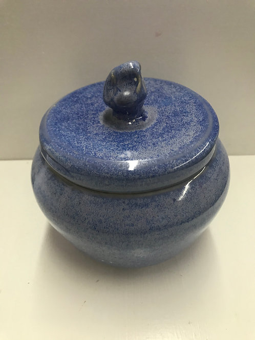 Breaking Blue Lidded Bowl w/Sunshine