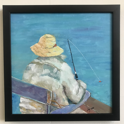 Fishing in a Yellow Hat