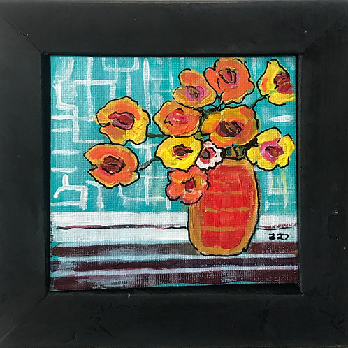 Small Still Life with Yellow & Orange Flowers