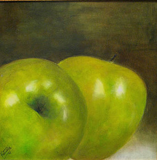 Apples abstract (SOLD)