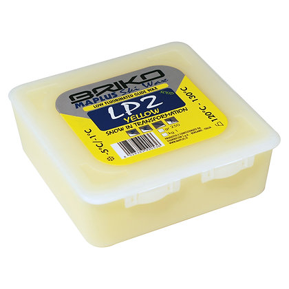 Briko Maplus Low fluorinated glide wax, LP2 SOLID YELLOW