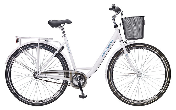 madisonnaisten pyörä 3 vaihteinen, WHITE