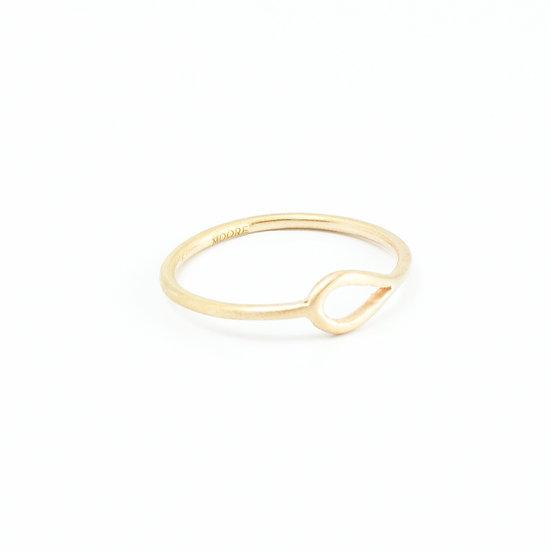 Scandinavian Drop Ring - 925 Silver