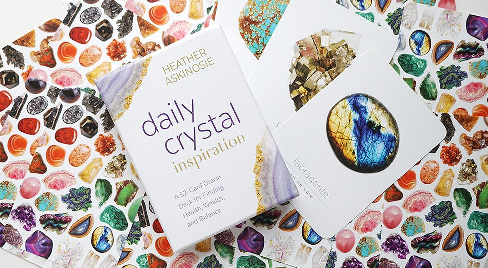 Daily Crystal Inspiration Oracle Cards - Heather Askinosie