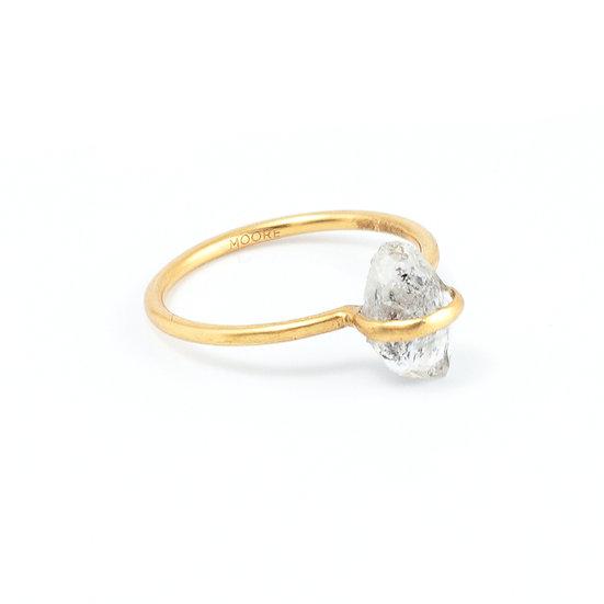 One star - Tibetan quartz ring