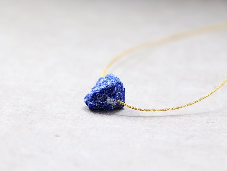 Lapis Lazuli on Adjustable  Japanese silk thread - High quality - Stone of Truth