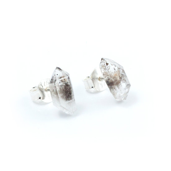 Piece of earth - Herkimer Diamond Studs