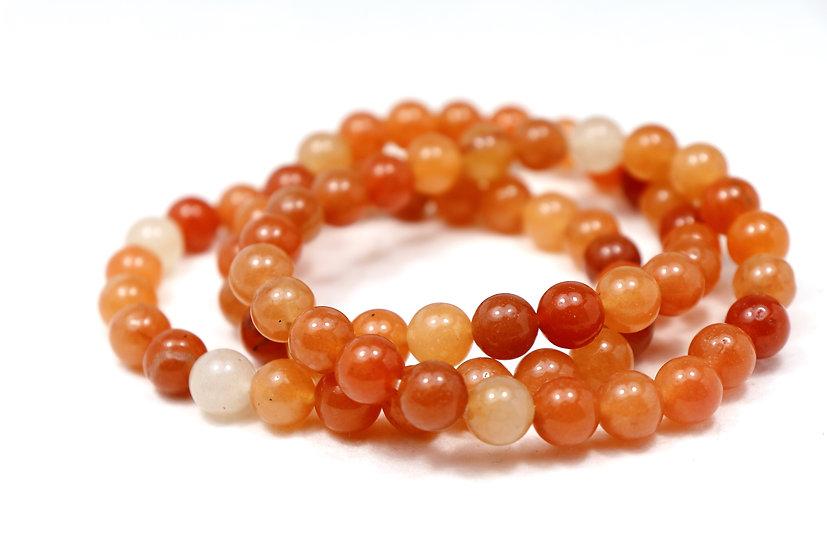 Orange Aventurine tumbled bracelet