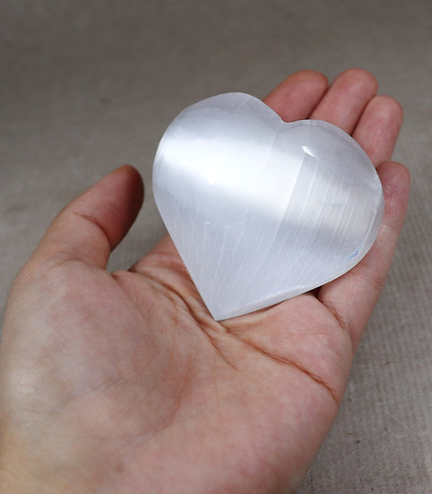 Selenite heart - Say it with a heart