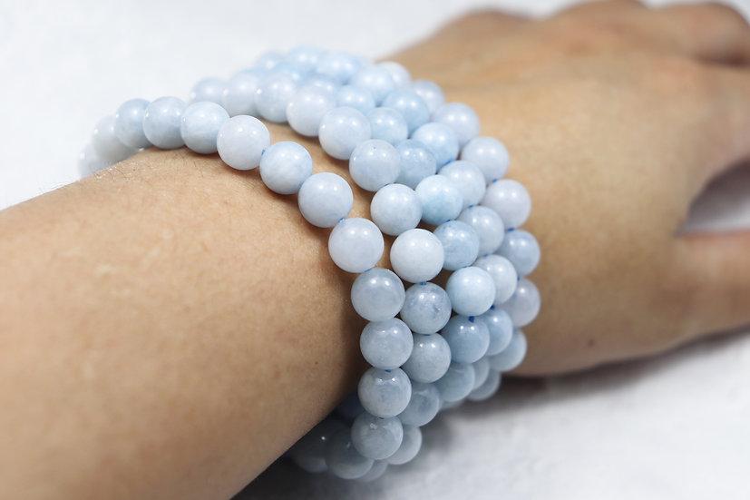 Aquamarine steinarmbånd - Stone for expression and flow. Beste kvalitet