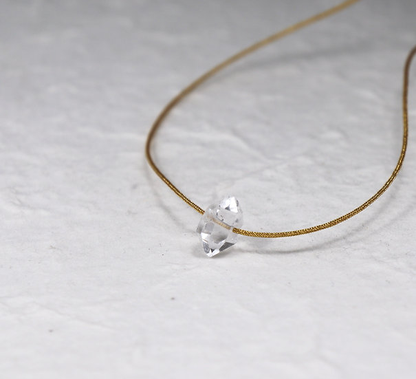 Herkimer Diamond Adjustable Japanese silk thread Necklace