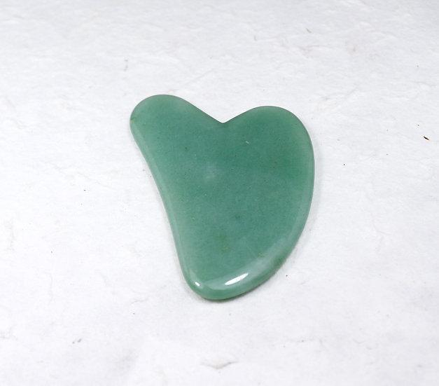 Gua Sha. Green Aventurine- Stone of Opportunity./ Steinen for å åpne muligheter