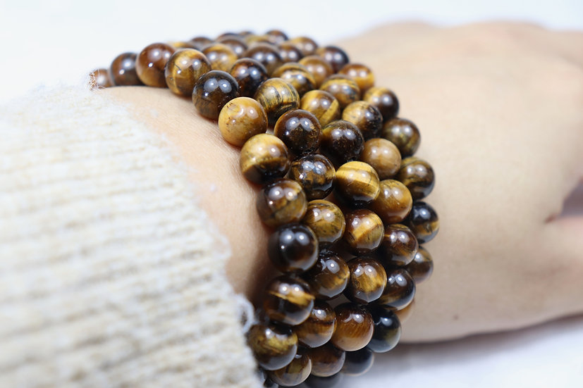 Tiger eye bracelet - Stone of balance and anti anxiety.
