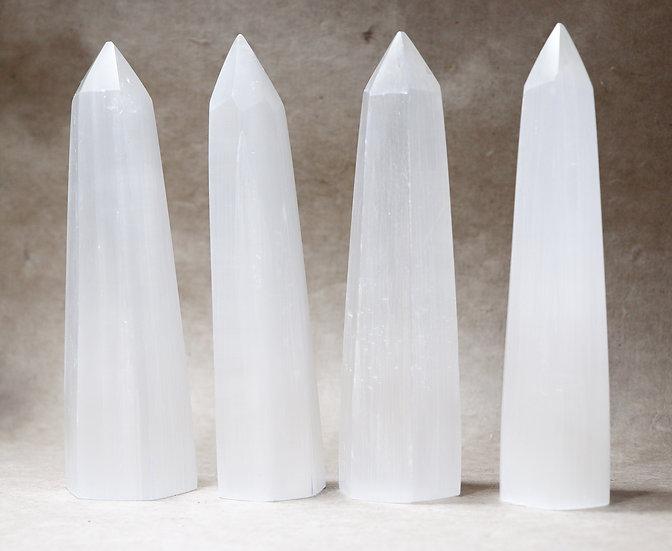 White selenite crystal
