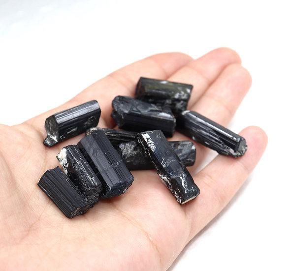 Small raw black tourmaline crystals - Bulk price