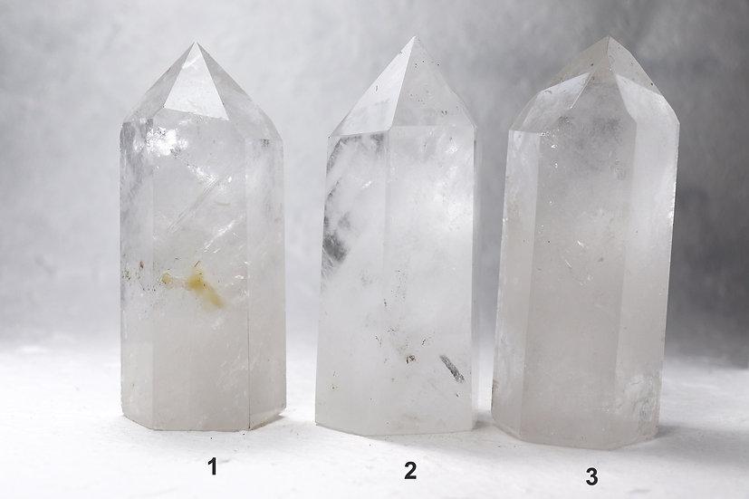 Quartz crystal tower- cloudy