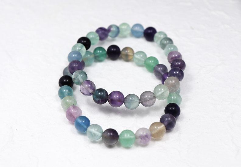 Rainbow Fluorite tumbled bracelet -