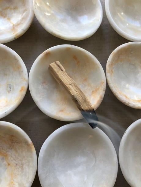 Palo santo and onyx bowl