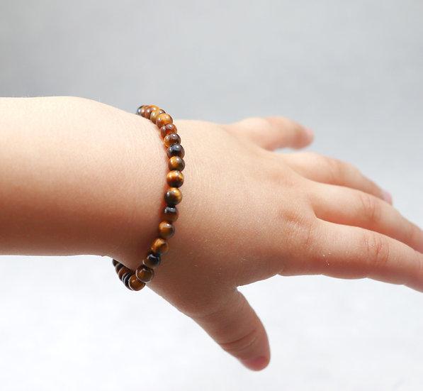 Tiger eye barn armbånd - Stone of balance and anti anxiety.