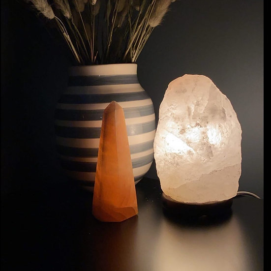 White Himalayan Rock Salt lamp