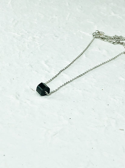 Black tourmaline 45 cm short necklace