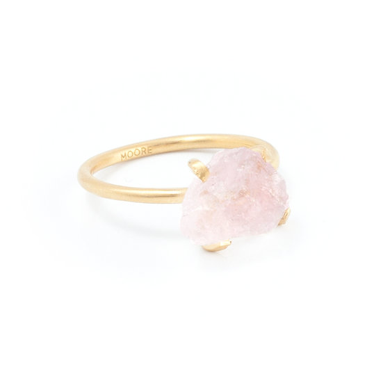Piece of earth - Handmade Rosequartz ring