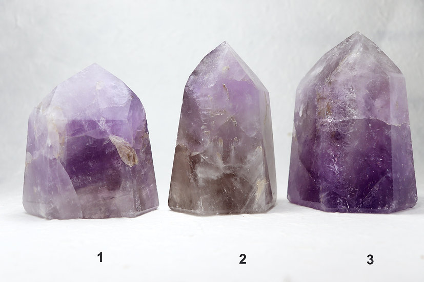 Amethyst Tower crystal healing point - Stone of spiritual protection