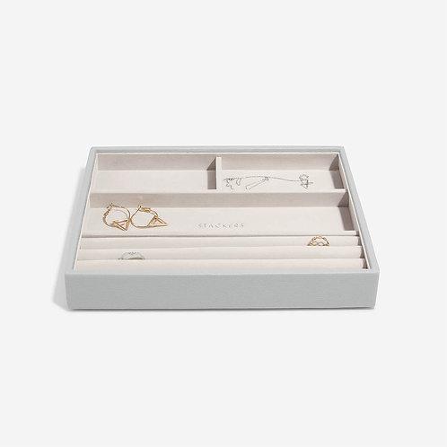 Classic Ring & Bracelet Layer - Grey Pebble