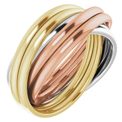 Trinity Double Rolling Ring