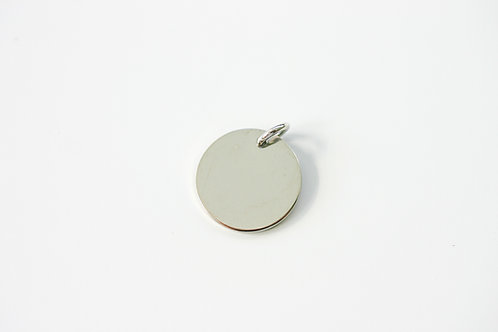 10K Plain Round Charm