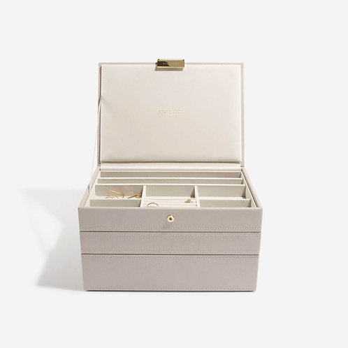 Classic Set of 3 Jewellery Box - Taupe