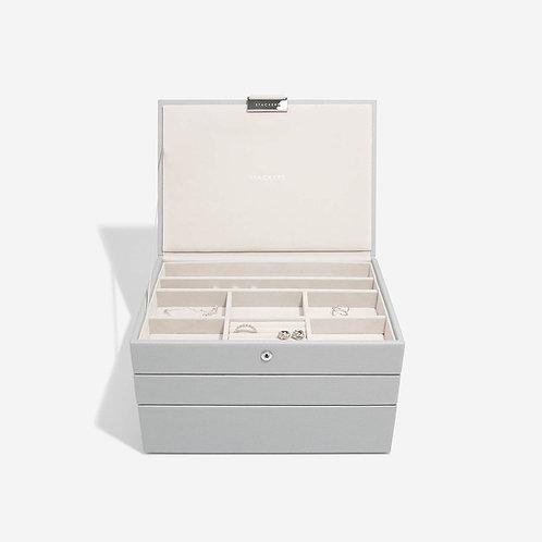 Classic Set of 3 Jewellery Box - Grey Pebble
