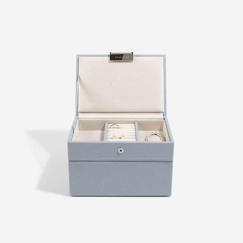 Mini Set of 2 Jewellery Box - Dusky Blue