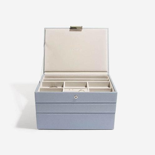 Classic Set of 3 Jewellery Box - Dusky Blue