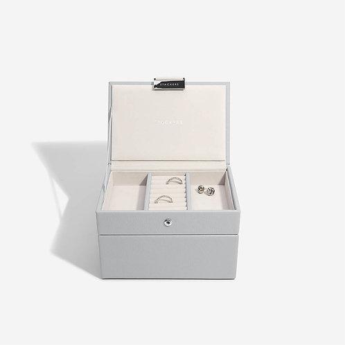 Mini Set of 2 Jewellery Box - Grey Pebble