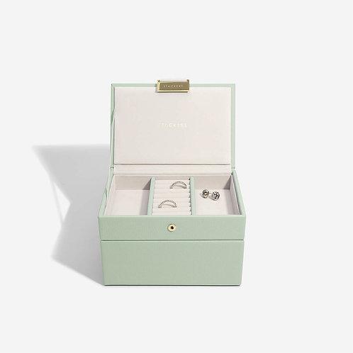 Mini Set of 2 Jewellery Box - Sage Green