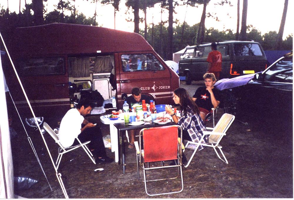 2002 am Atlantik mit unserem roten T3