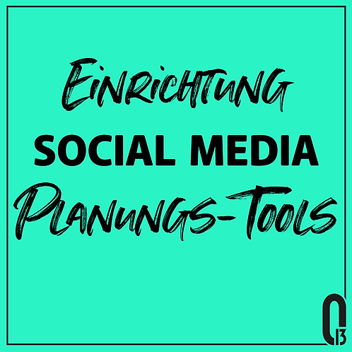 Anlage Social Media Planungstools + Strategie
