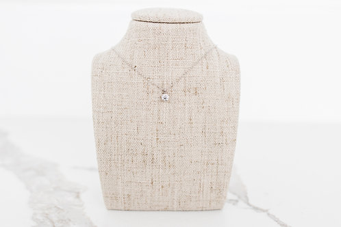 Lab Created Diamond Solitaire Necklace