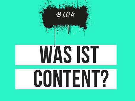 Was ist eigentlich Content?