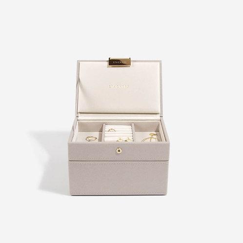 Mini Set of 2 Jewellery Box - Taupe